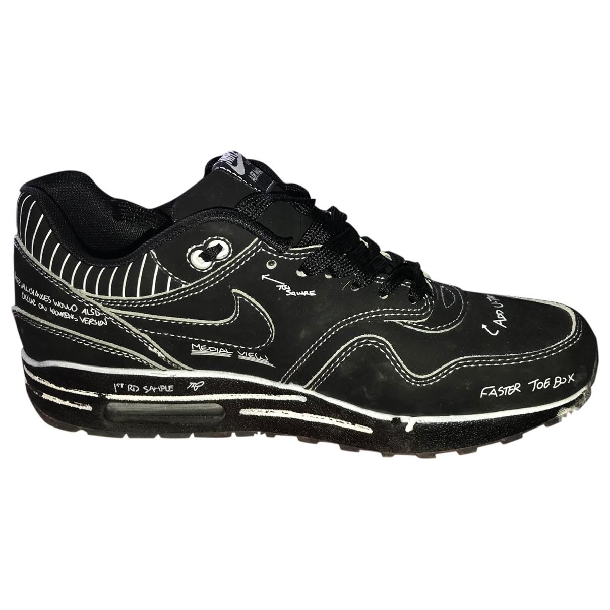 Nike Air Max 1 Black Cloth Trainers for Men 42.5 EU