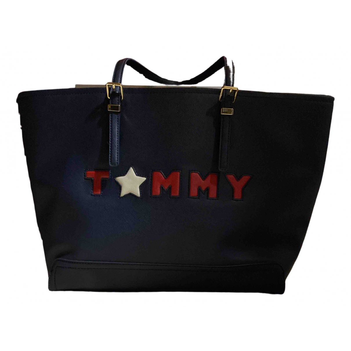 Tommy Hilfiger \N Handtasche in  Blau Leder