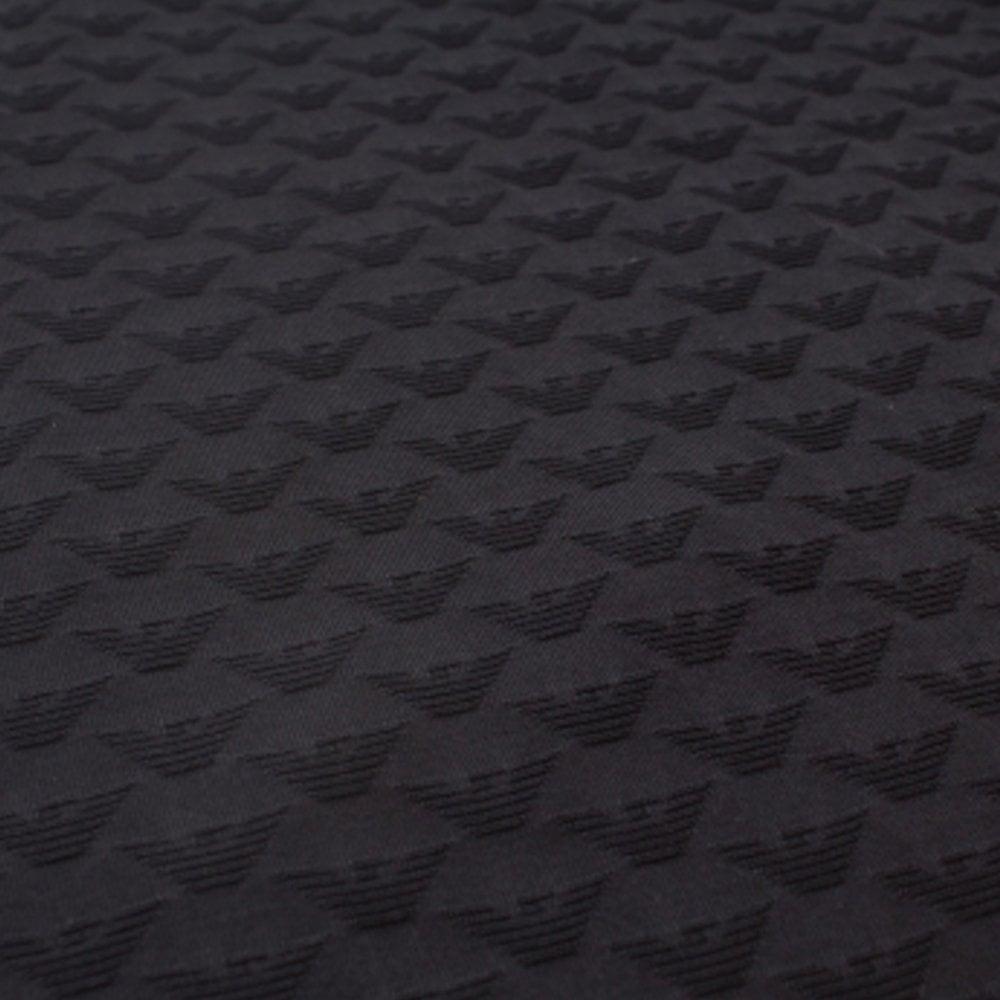 Emporio Armani Jacquard Eagle Polo Colour: BLACK, Size: EXTRA EXTRA LARGE