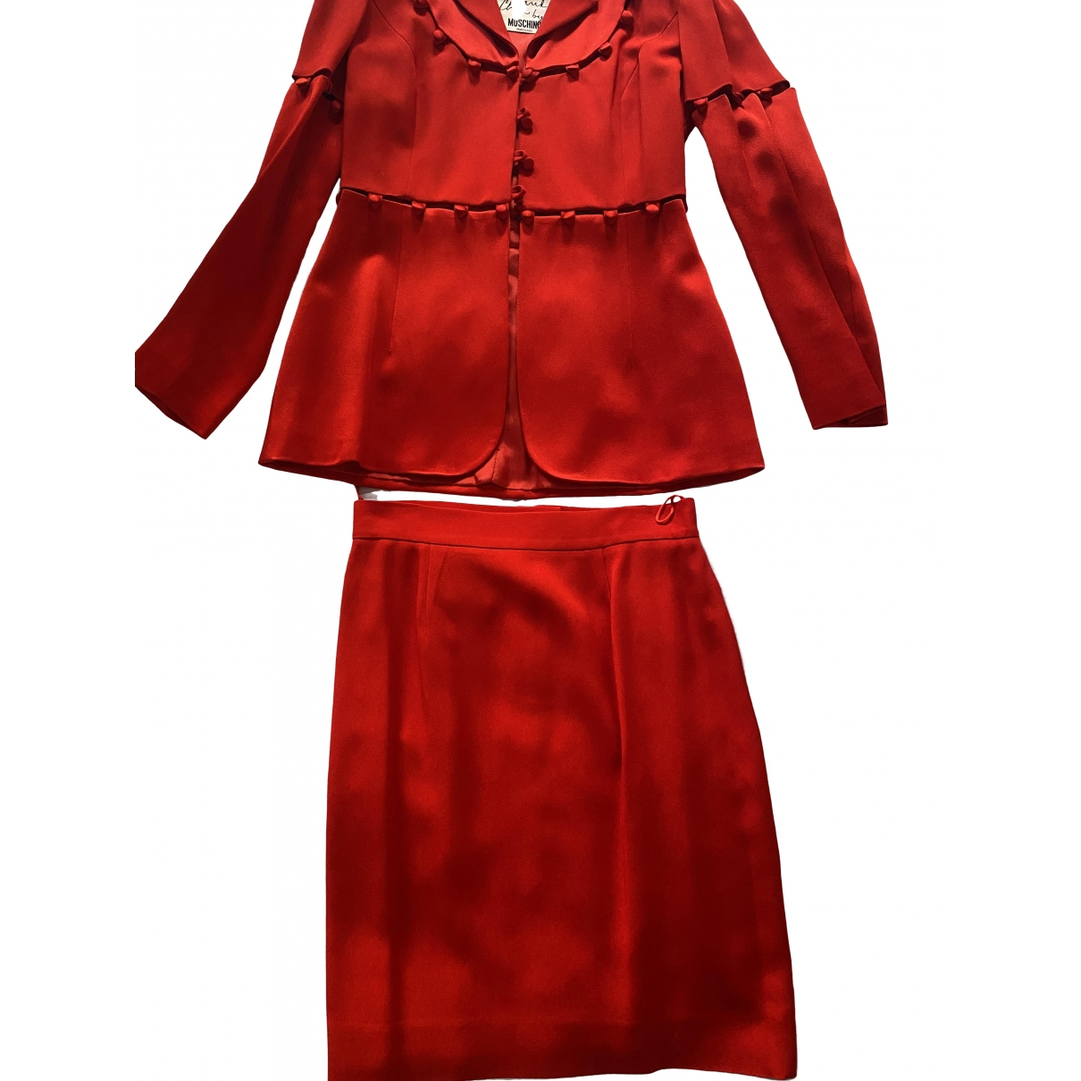 Moschino Cheap And Chic \N Jacke in  Rot Synthetik