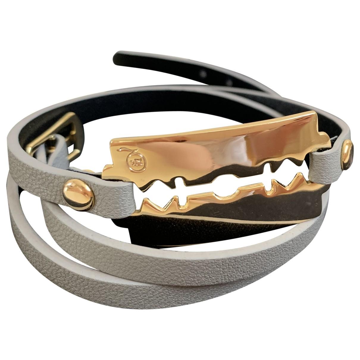 Mcq \N Armband in  Bordeauxrot Leder