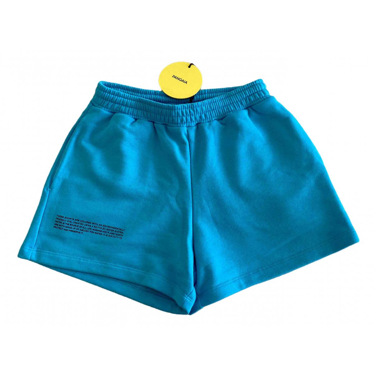 The Pangaia \N Blue Cotton Shorts for Women 36 FR
