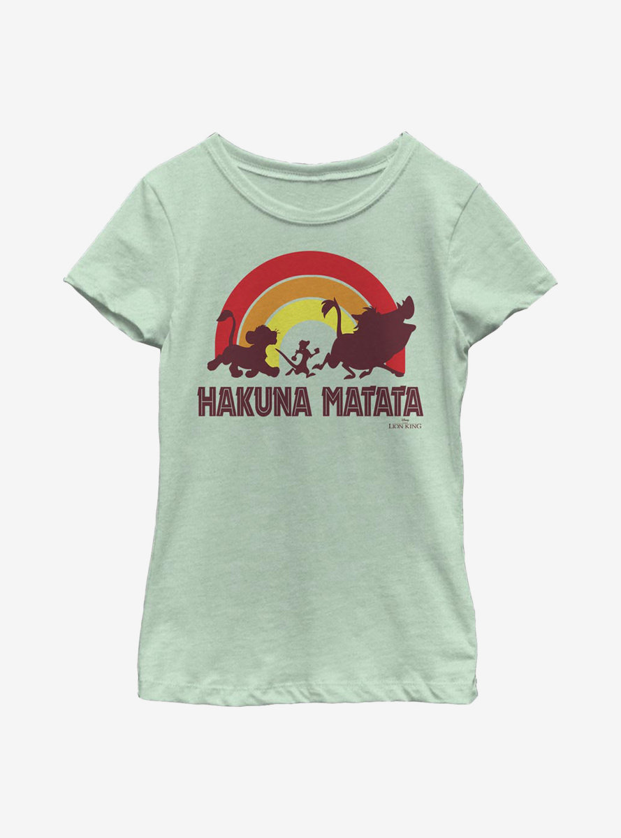 Disney The Lion King Hakuna Rainbow Youth Girls T-Shirt