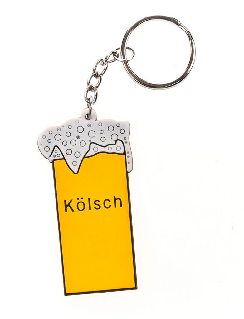 Kostuemzubehor Schluesselanhaenger Kolschglas Farbe: gelb