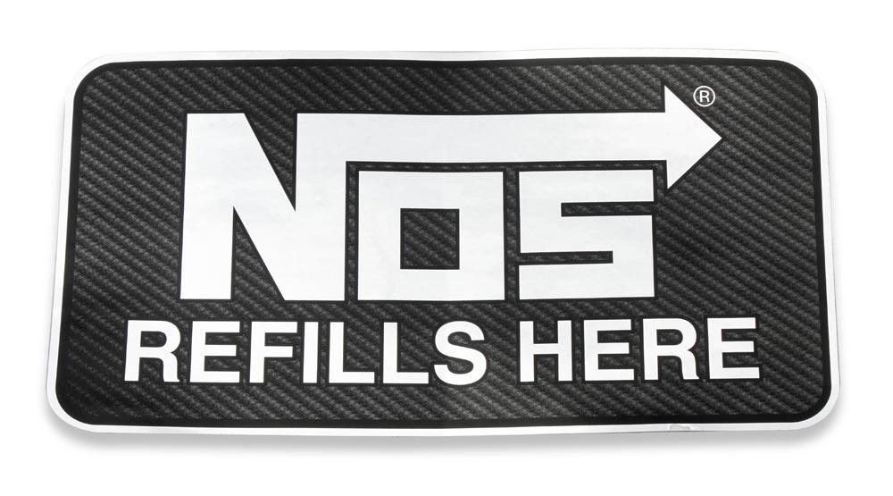 NOS 19212NOS/Nitrous Oxide System DECAL, NOS 19212NOS, CARBON, REFILLS HERE
