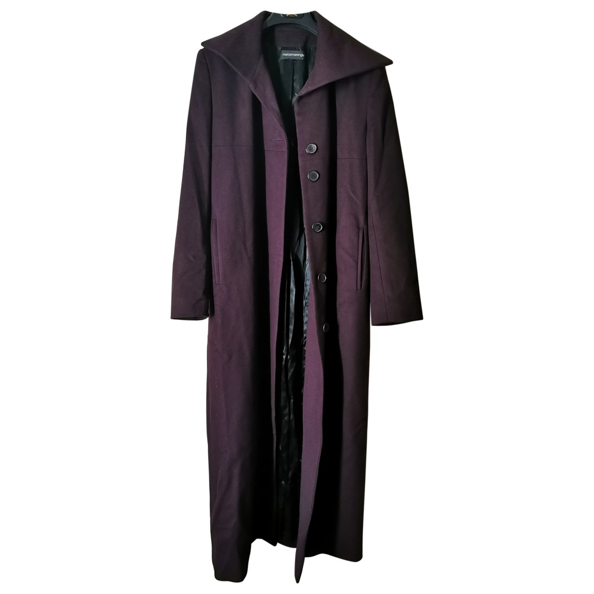 Non Signé / Unsigned \N Purple Wool coat for Women 36 FR