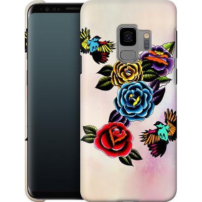 Samsung Galaxy S9 Smartphone Huelle - Tattoo Roses von Mark Ashkenazi