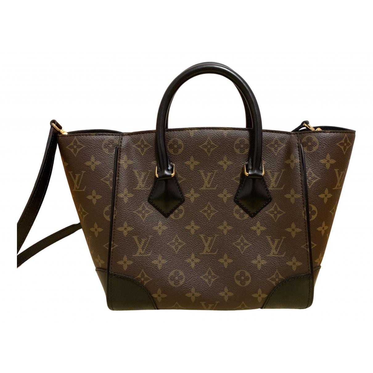 Louis Vuitton - Sac a main Phenix pour femme en toile - marron