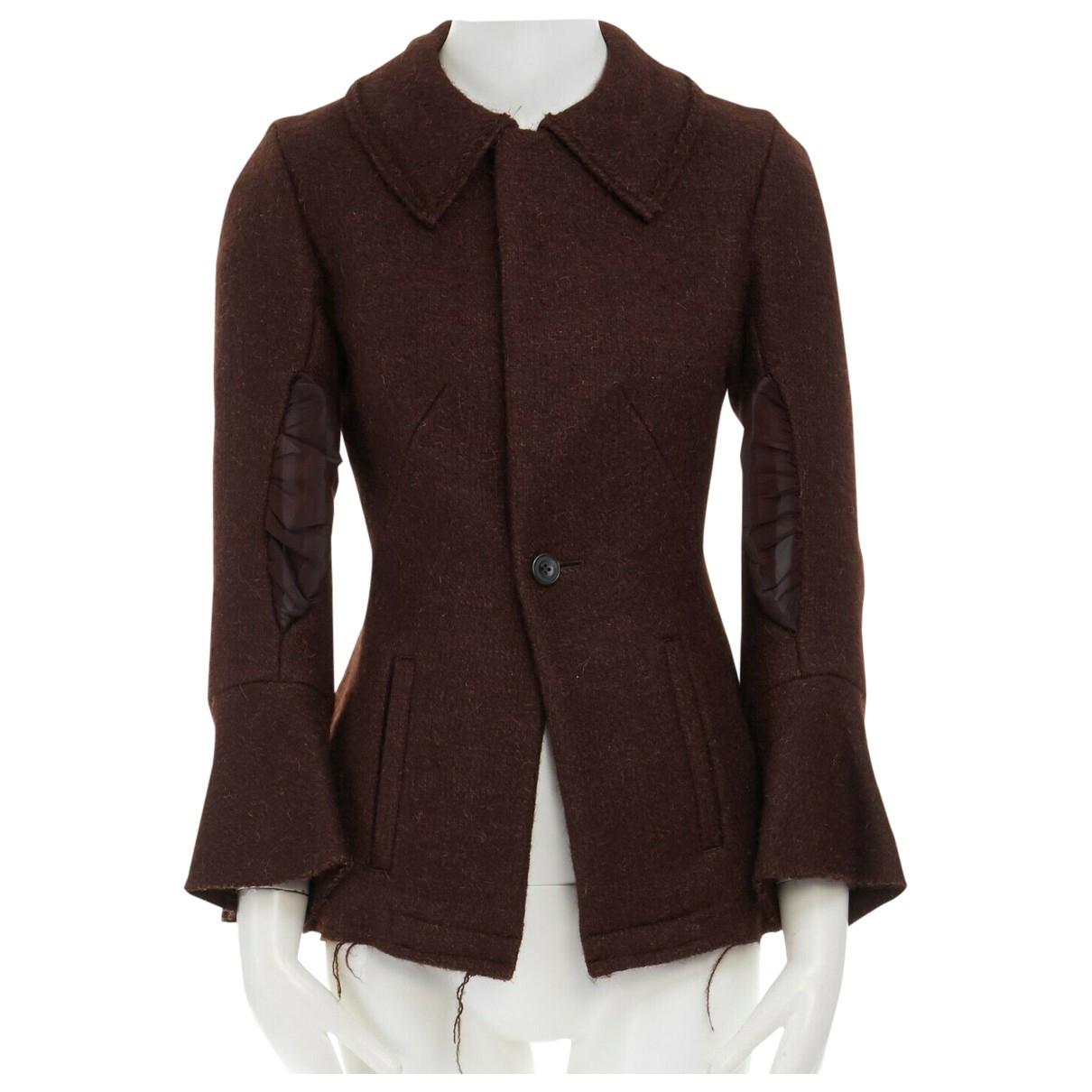 Yohji Yamamoto - Veste   pour femme en laine - marron