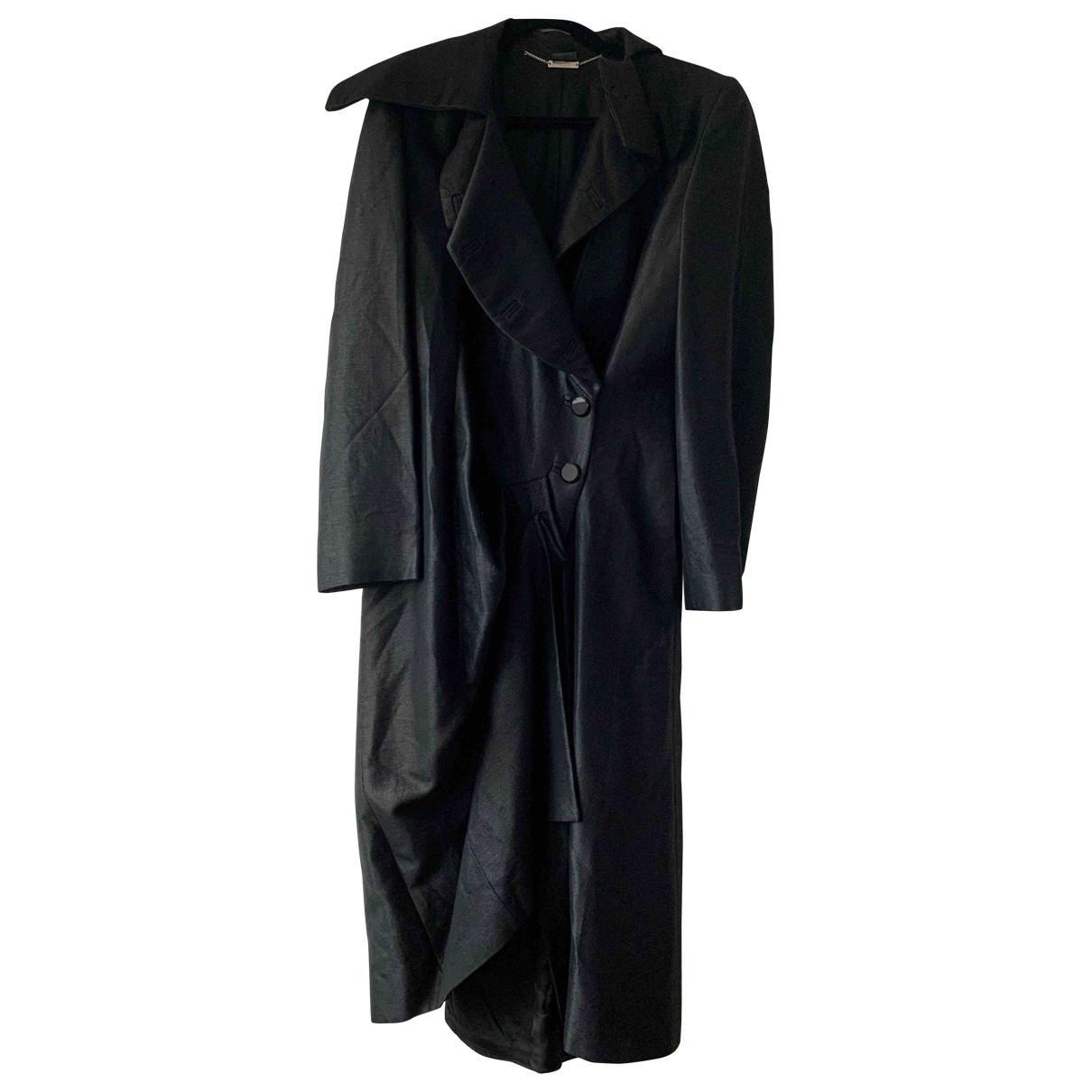 Alexander Mcqueen - Manteau   pour homme en toile - noir