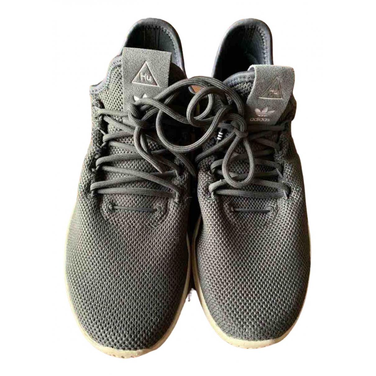 Adidas X Pharrell Williams - Baskets   pour femme en toile - gris