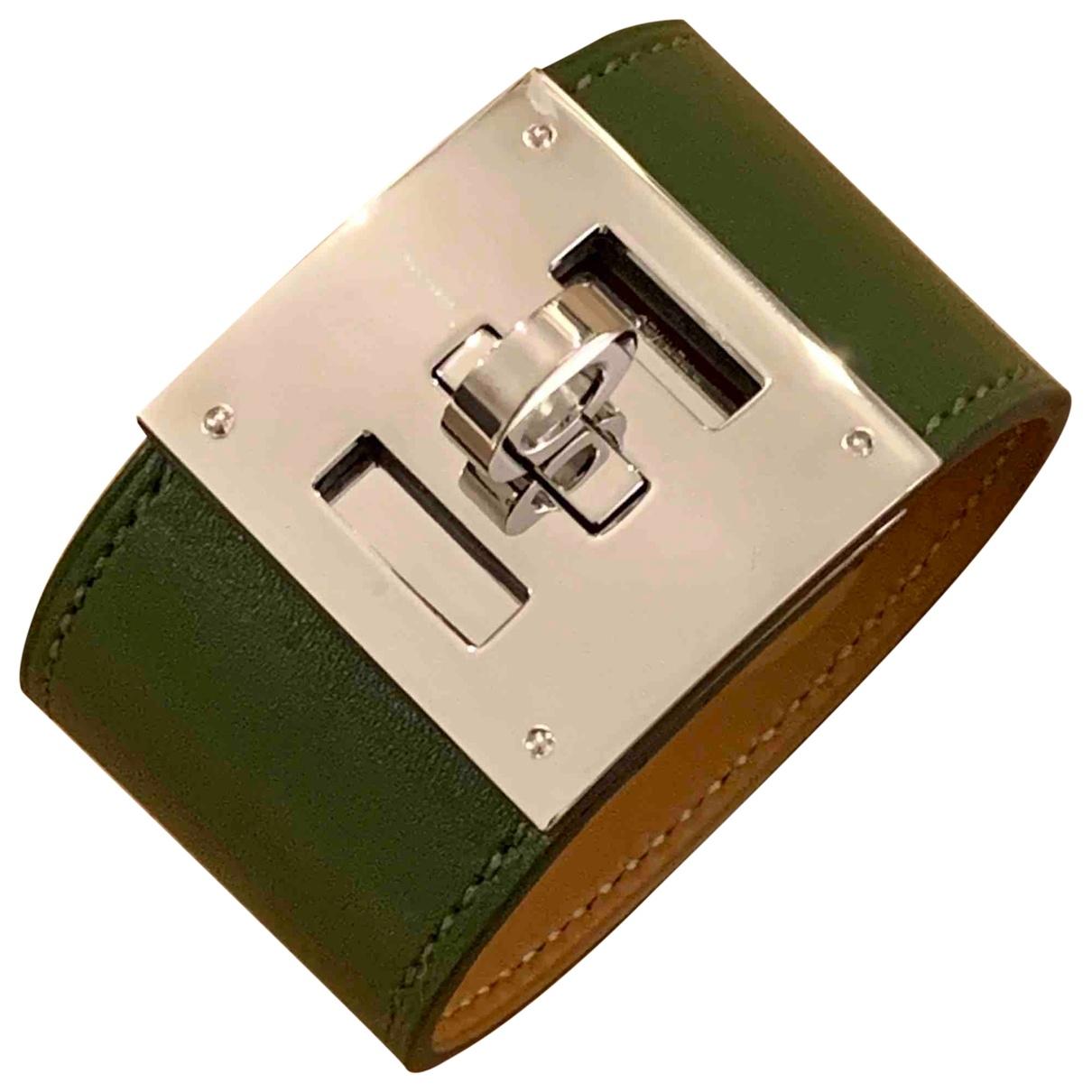 Hermes - Bracelet Kelly pour femme en cuir - vert