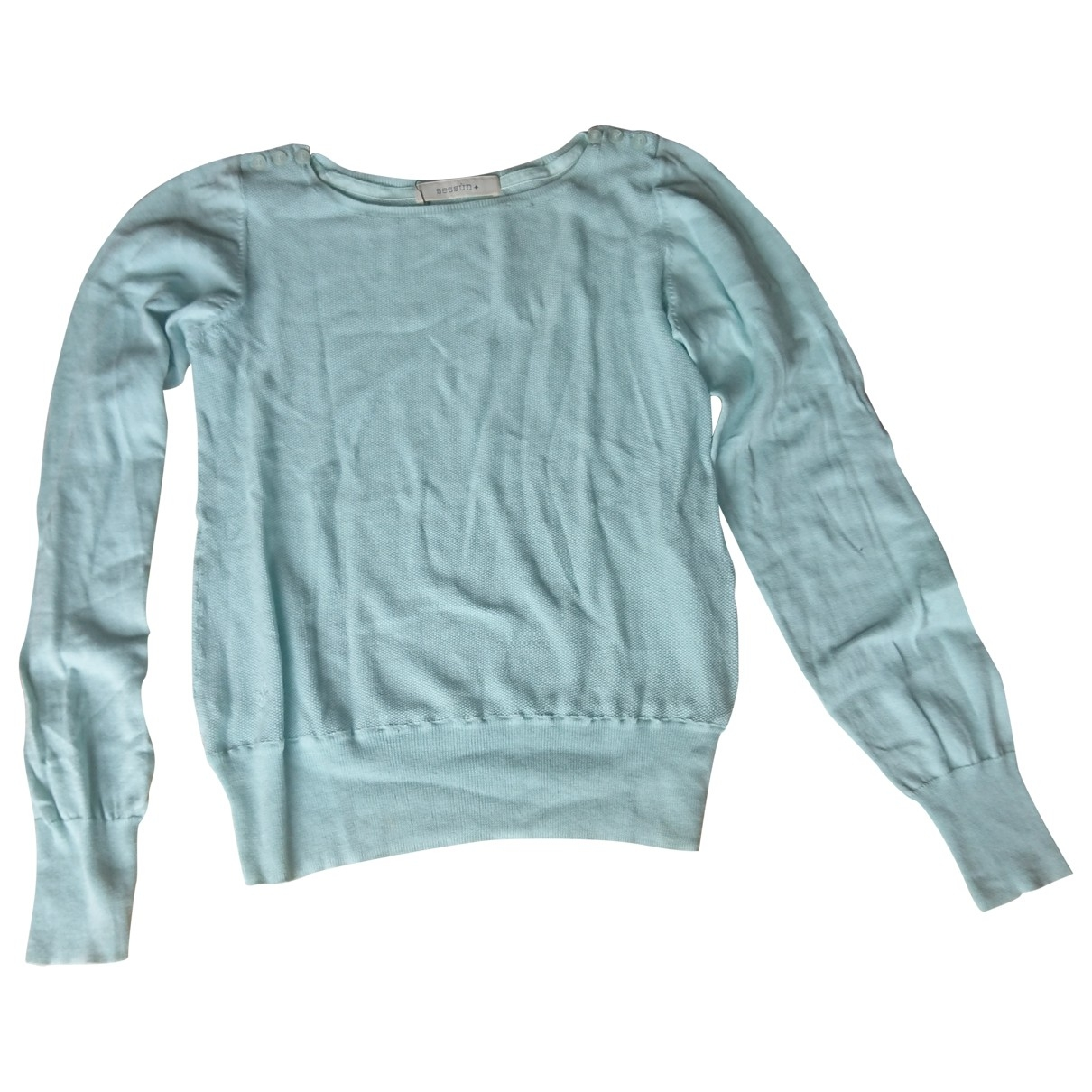 Sessun \N Turquoise Cotton Knitwear for Women XS International