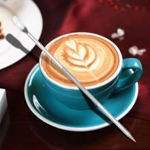 Edelstahl Latte Art Nadel