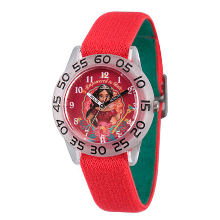 Disney Elena of Avalor Girls Red Strap Watch-Wds000277, One Size , No Color Family
