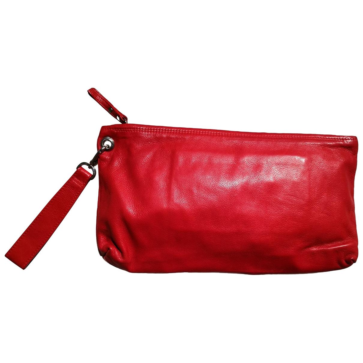 - Pochette   pour femme en cuir - rouge