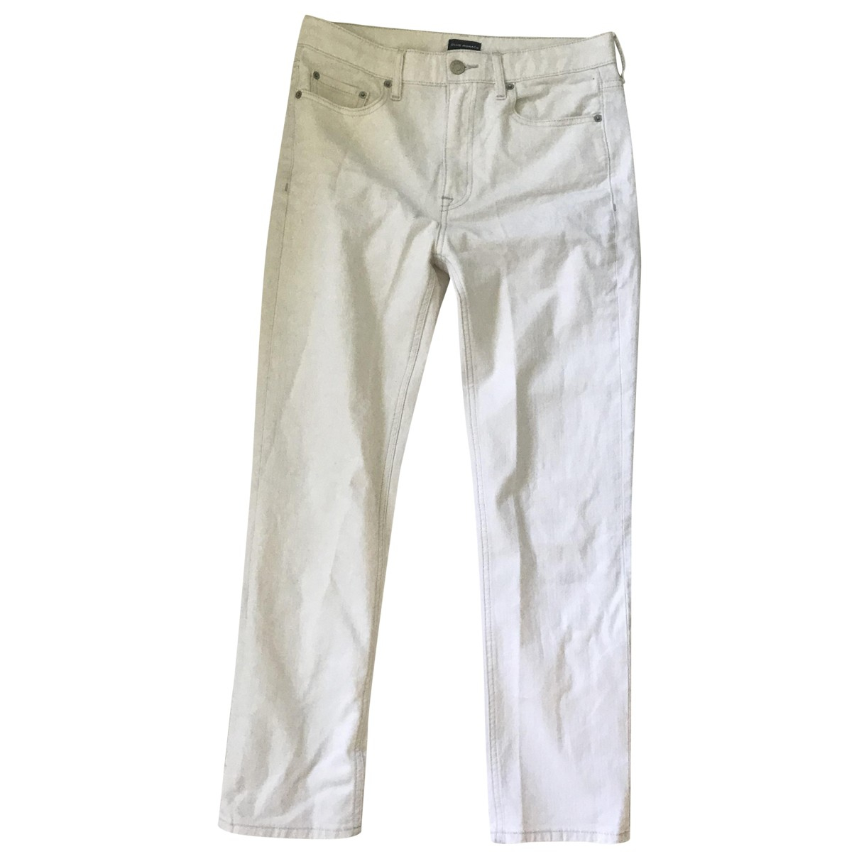 Club Monaco \N White Cotton Jeans for Women 28 US