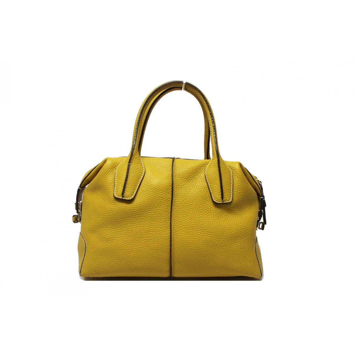 Tods - Sac a main   pour femme en cuir - jaune
