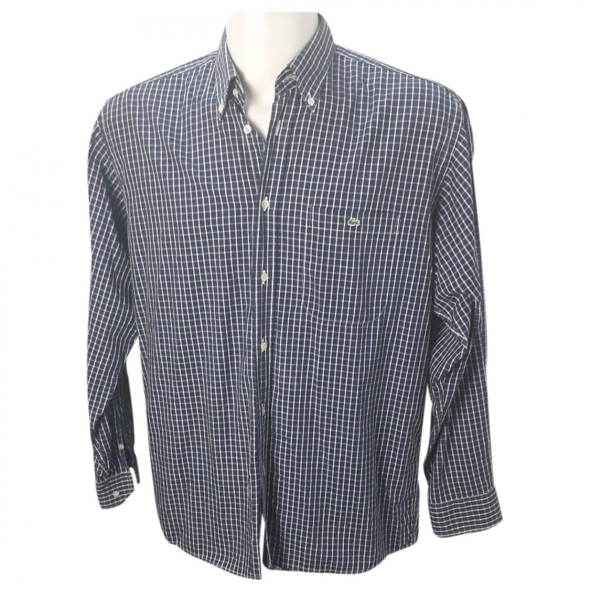Lacoste \N Blue Cotton Shirts for Men 41 EU (tour de cou / collar)