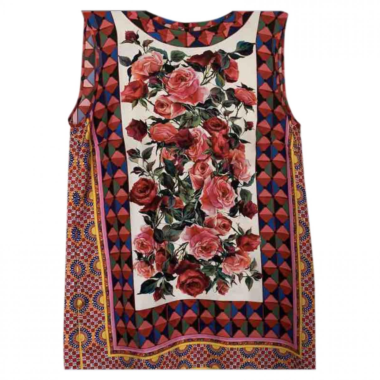Dolce & Gabbana \N Multicolour Silk  top for Women 38 IT
