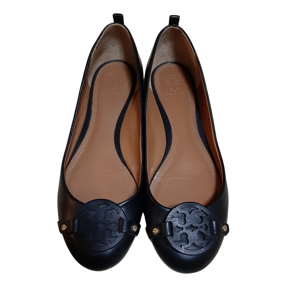 Tory Burch N Black Leather Ballet flats for Women 7 US