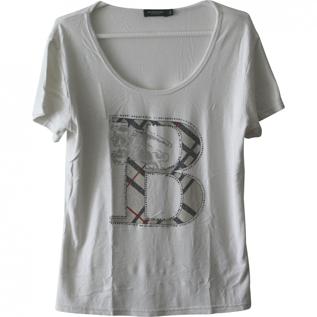 Burberry \N Ecru Cotton  top for Women 36 FR