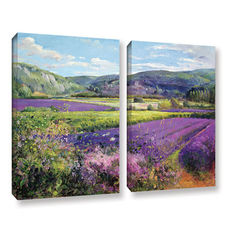 Brushstone Lavender Fields in Old Provence 2-pc. Gallery Wrapped Canvas Wall Art, One Size , Purple