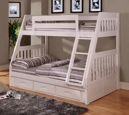 0218-TFW Twin/Full Mission Bunkbed in