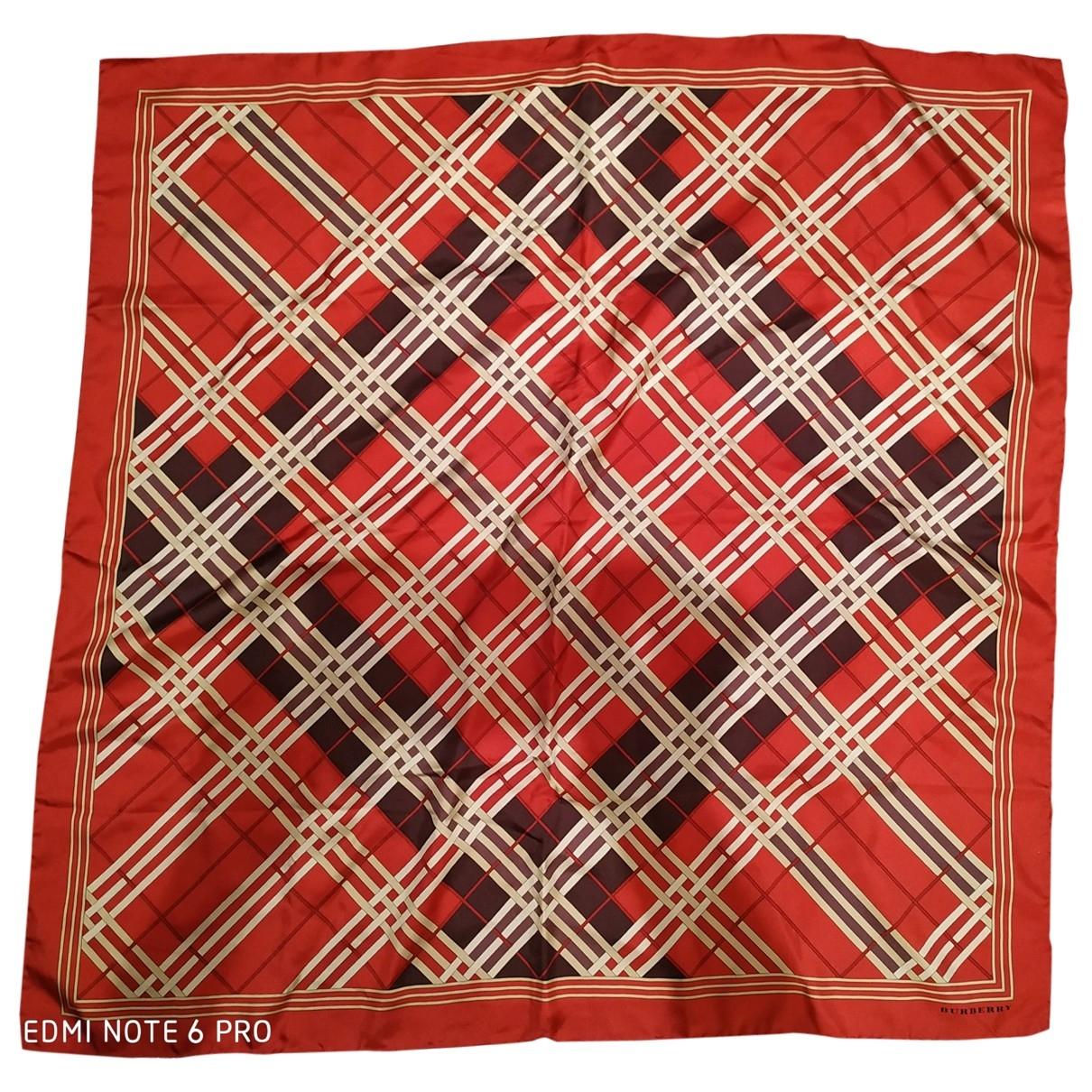 Burberry \N Red Silk Silk handkerchief for Women \N