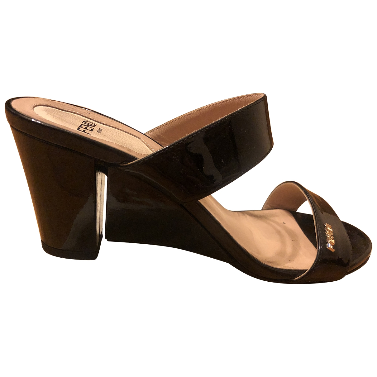 Fendi \N Black Leather Sandals for Women 37 EU