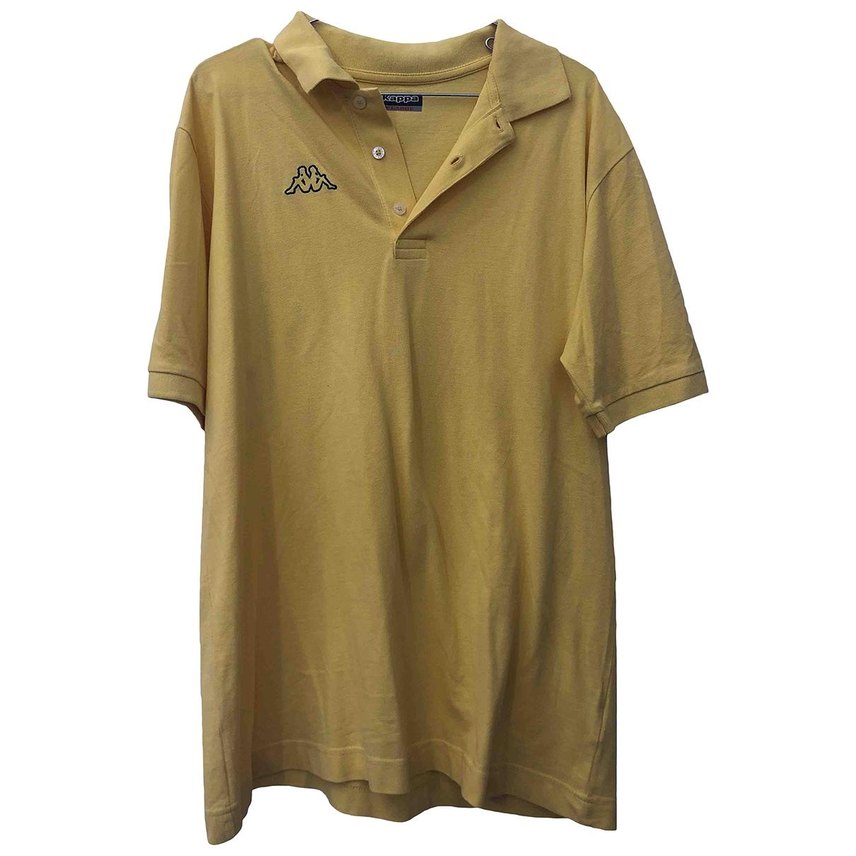 Kappa - Polos   pour homme en coton - jaune