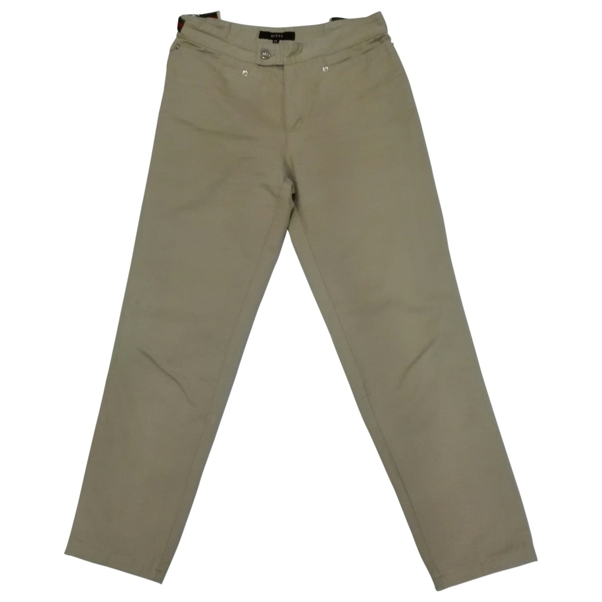 Gucci \N Camel Cotton Trousers for Women 42 IT