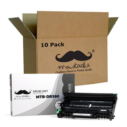 Compatible Brother DR360 Drum Unit by Moustache, 10 Pack