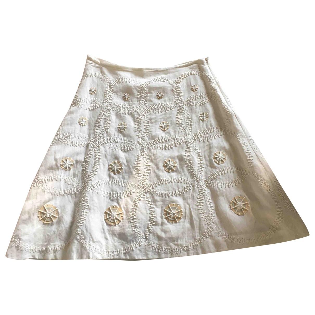 Maliparmi - Jupe   pour femme en coton - blanc