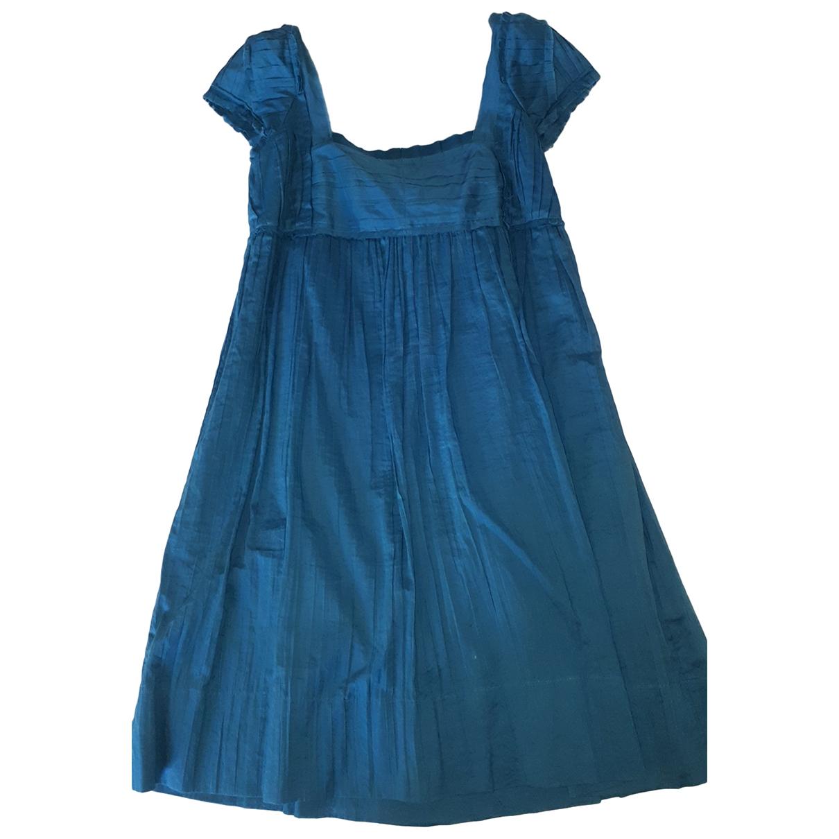 Philosophy Di Alberta Ferretti \N Kleid in  Blau Baumwolle