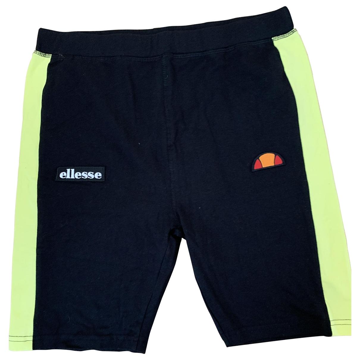 Ellesse \N Black Cotton - elasthane Shorts for Women 40 FR