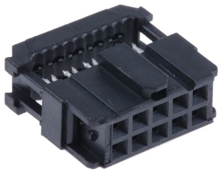 TE Connectivity 10-Way IDC Connector Socket for Cable Mount, 2-Row