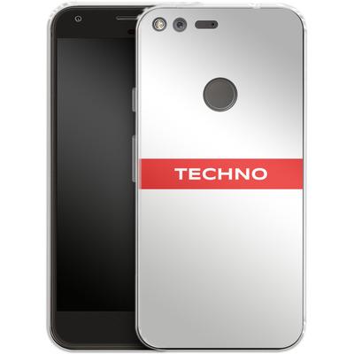 Google Pixel XL Silikon Handyhuelle - RED LINE von Berlin Techno Collective