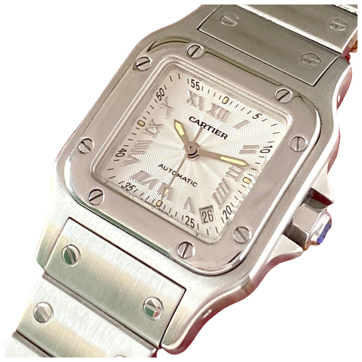 Cartier Santos Galbée Silver Steel watch for Women \N