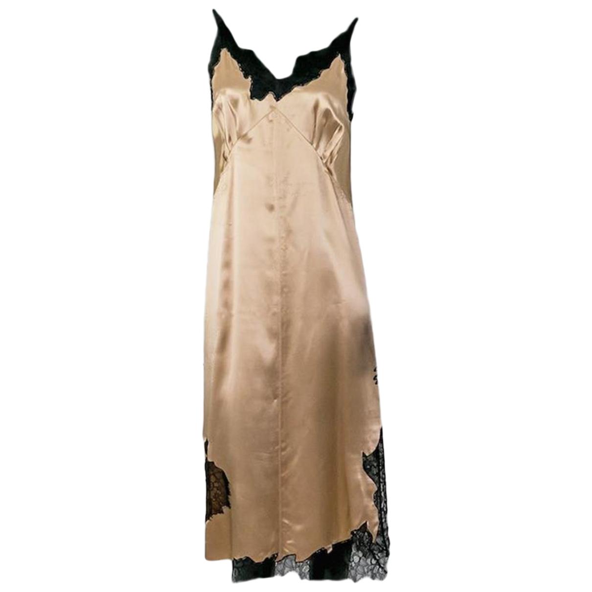 Helmut Lang - Robe   pour femme en soie - beige