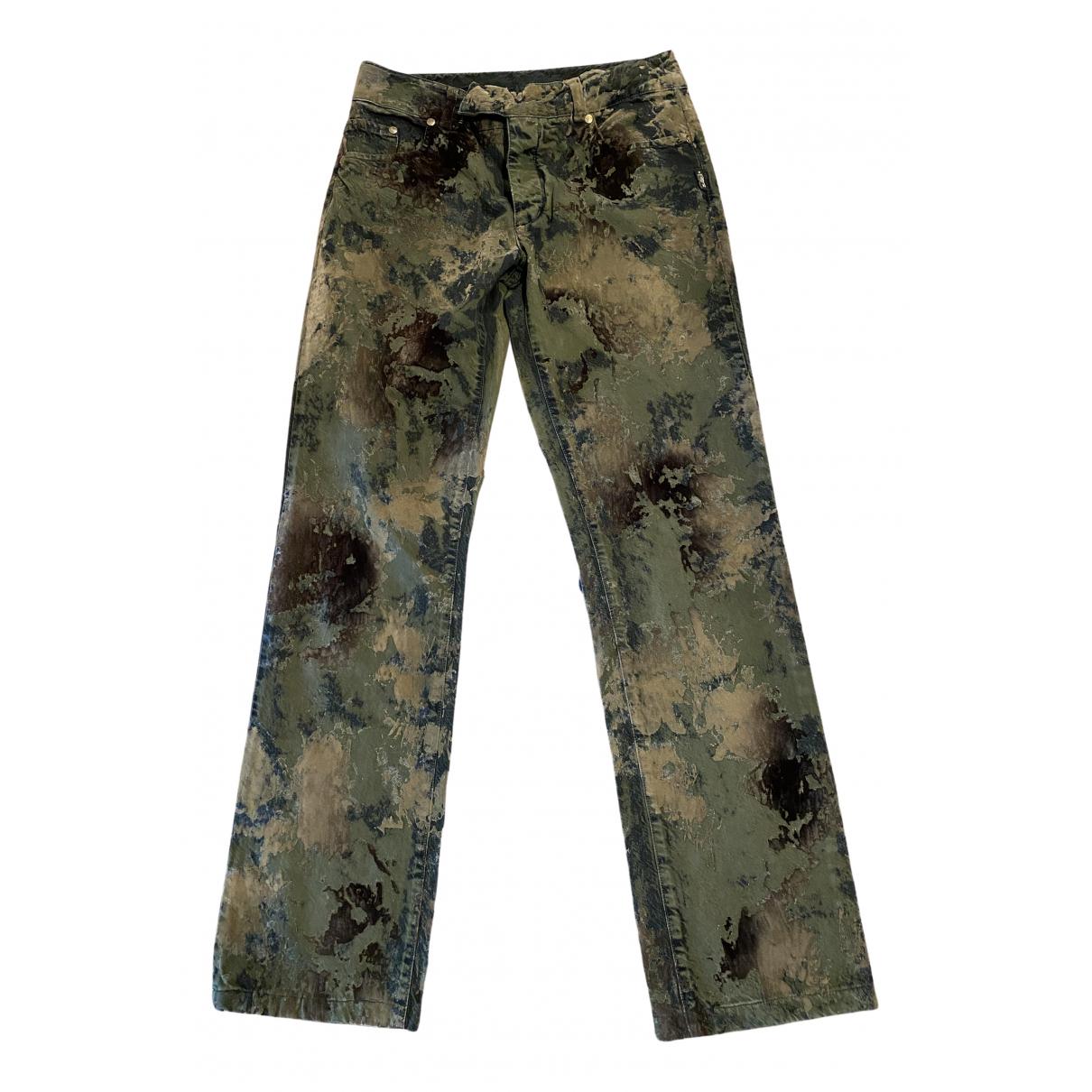 Jean Paul Gaultier \N Green Cotton Trousers for Women 38 FR