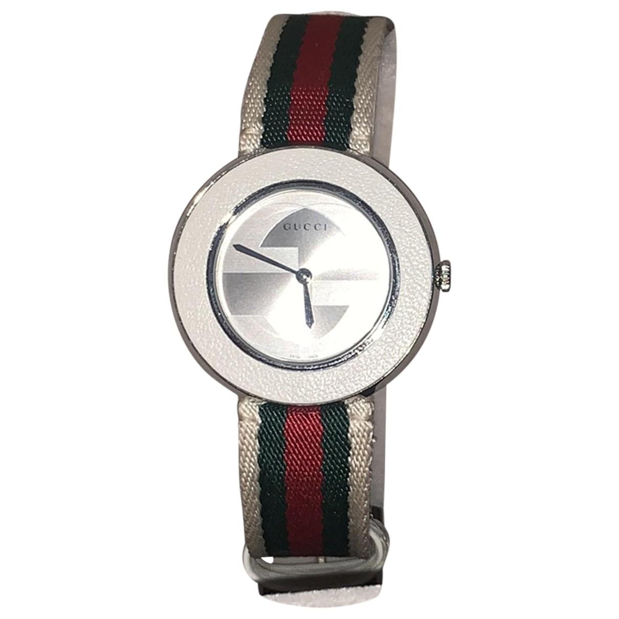 Gucci \N Uhr in  Beige Stahl