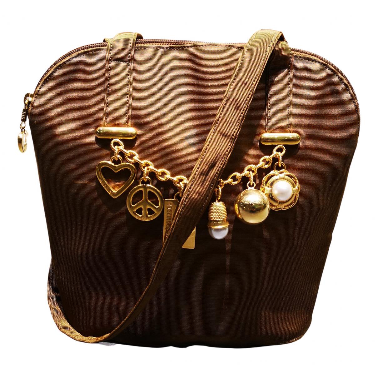 Moschino \N Handtasche in  Kamel Leinen