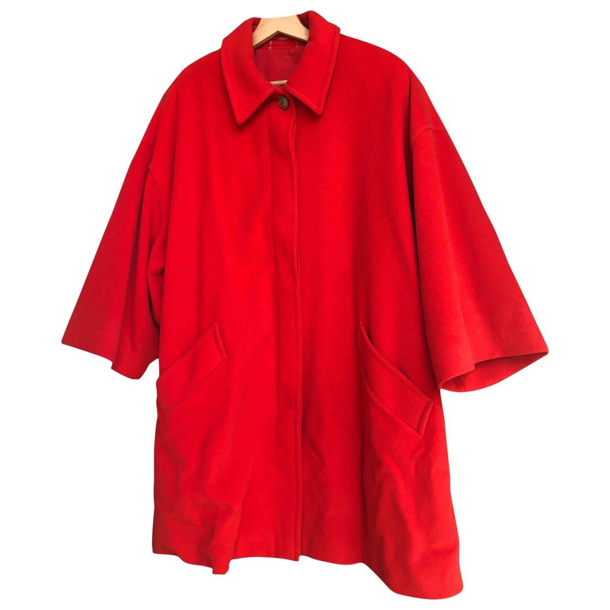 Max Mara Weekend \N Red Wool coat for Women 42 IT