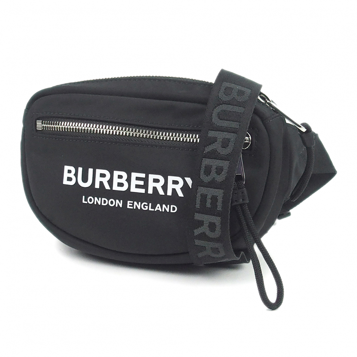Burberry - Sac banane   pour homme en toile - noir