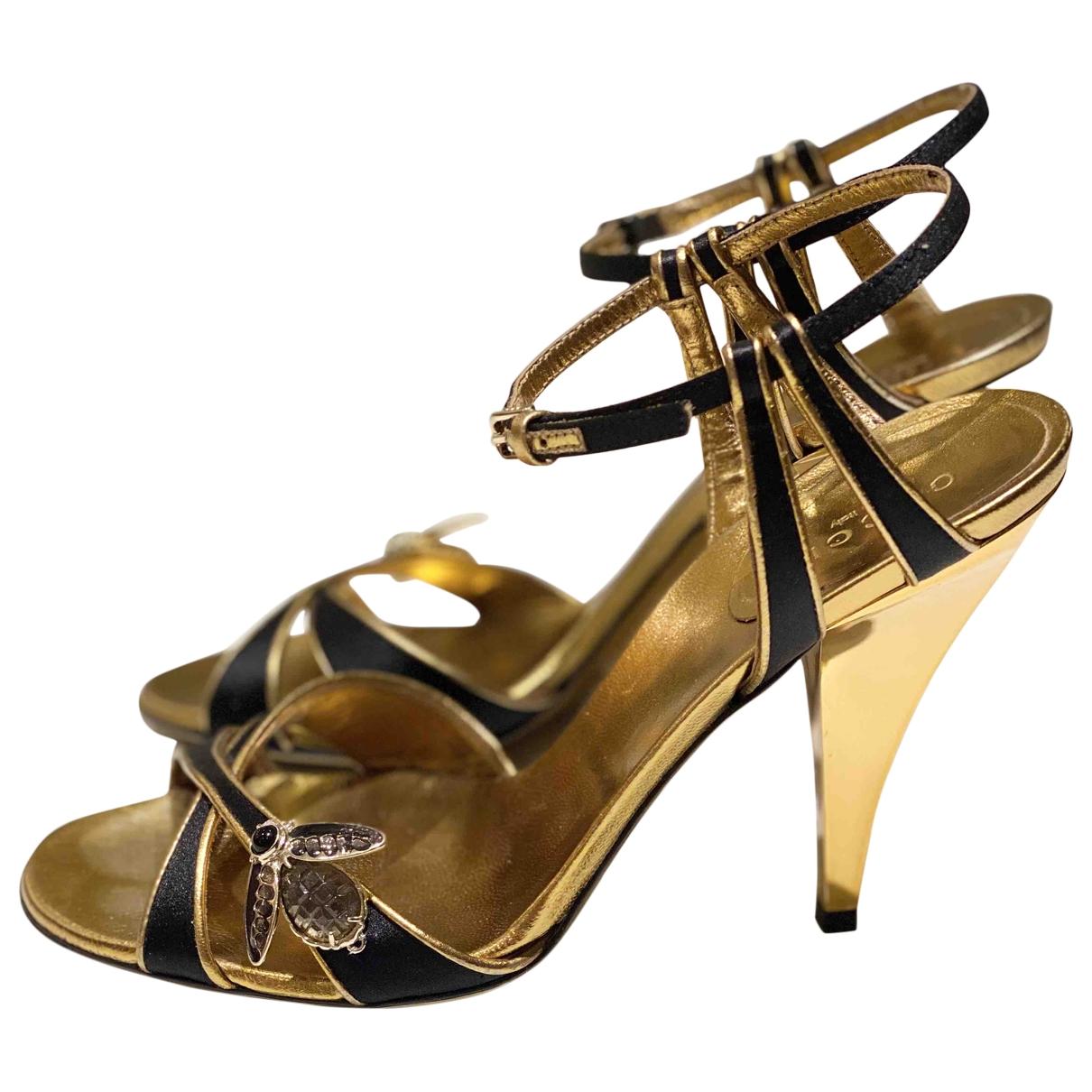 Gucci - Sandales   pour femme en toile - dore