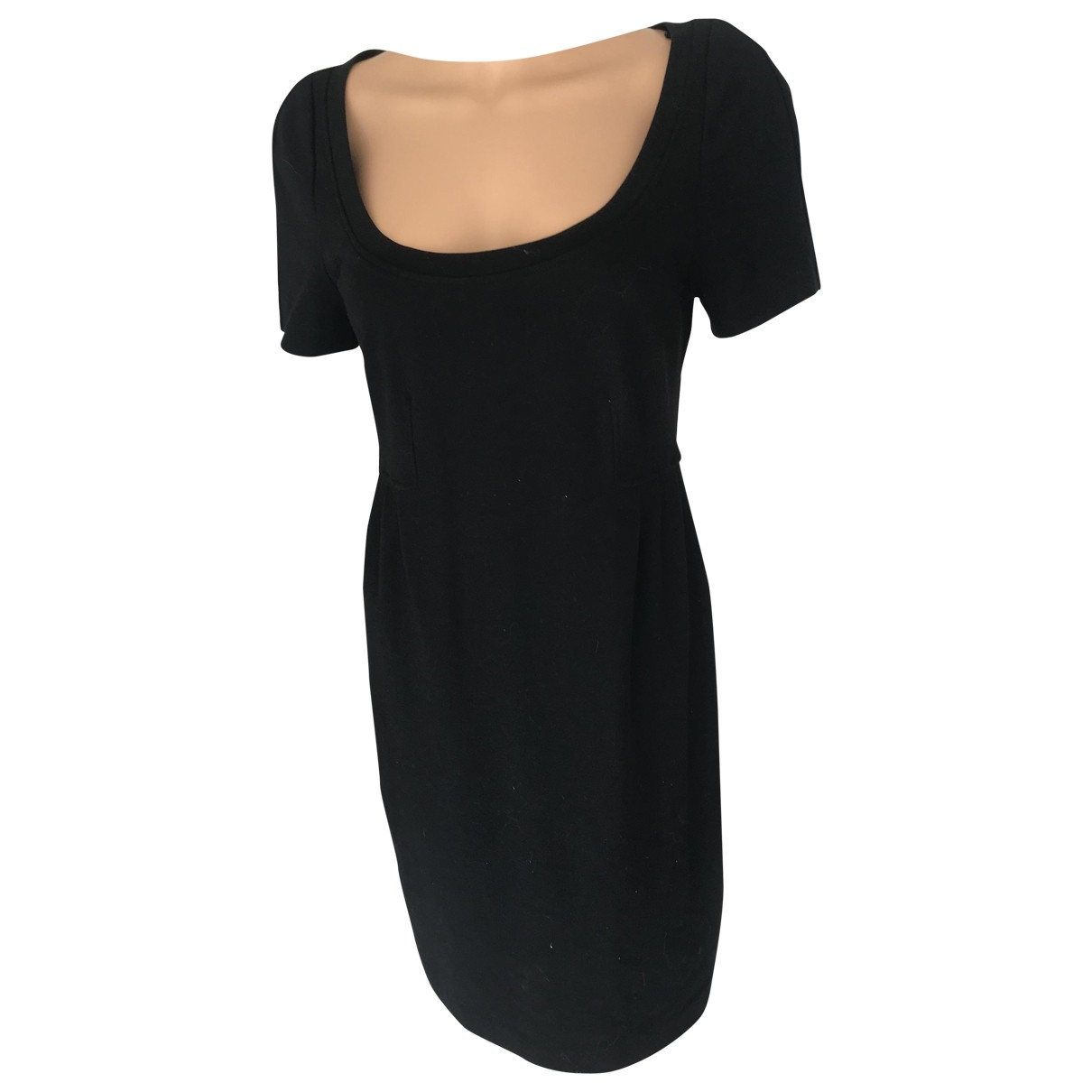 Diane Von Furstenberg \N Black Cotton - elasthane dress for Women 34 FR