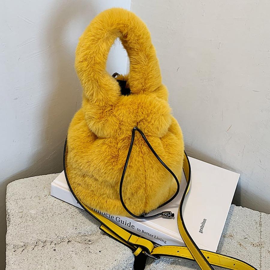 LW lovely Chic Flannel Khaki Crossbody Bag