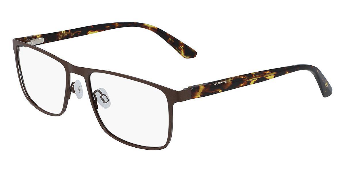 Calvin Klein CK20316 201 Men's Glasses Brown Size 56 - Free Lenses - HSA/FSA Insurance - Blue Light Block Available