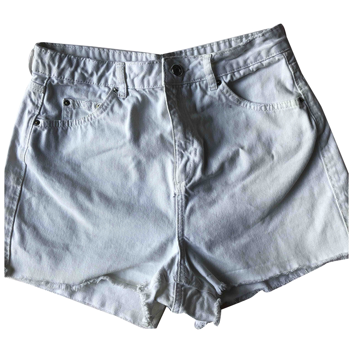 Tophop \N Shorts in  Weiss Baumwolle